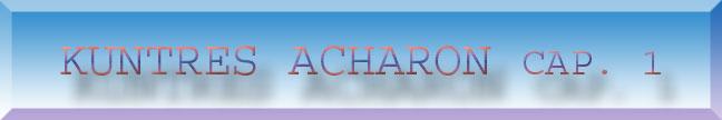 Tanya  Kuntres Acharon